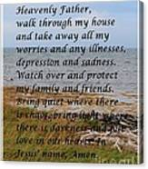 Most Powerful Prayer With Seashore Canvas Print