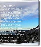 Most Powerful Prayer With Winter Scene Canvas Print