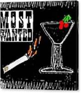 Most Wanted Canvas Print