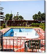 Motel Pool 3 Canvas Print