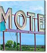 Motel Sign - Arrow Canvas Print
