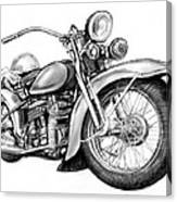 Motercycle Drawing Art Sketch - 4 Canvas Print