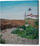 Mother Ann And Eastern Point Light Canvas Print