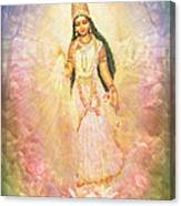 Mother Goddess In Rainbow Colours Canvas Print