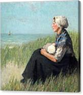 Mother In The Dunes Canvas Print