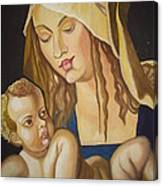 Mother With Her Child Canvas Print