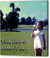 Mother's Day 1964 Canvas Print
