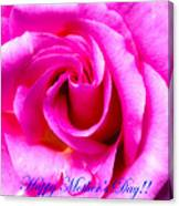 Mother's Day Rose Canvas Print