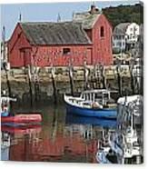Motif Boats Canvas Print