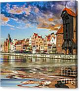 Gdansk Motlawa River- Poland Canvas Print