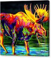 Motley Moose Canvas Print