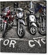 Motor Cycles Canvas Print