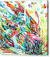 Motor Demon With Butterflies Canvas Print