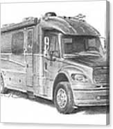 Motor Home Pencil Portrait Canvas Print