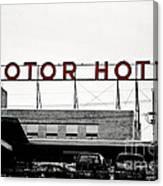 Motor Hotel Canvas Print