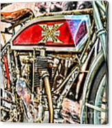 Motorcycle - 1914 Excelsior Auto Cycle Canvas Print