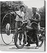 Motorcycle And Velocipede - 1921 Canvas Print
