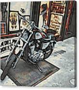 Motorcycle At Philadelphia Eddies Canvas Print