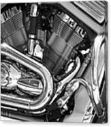 Motorcycle Close-up Bw 1 Canvas Print