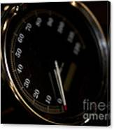 Motorcycle Speedometer Canvas Print