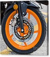 Motorcycle Wheel Canvas Print