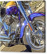 Motorcycle Without Blue Frame Canvas Print