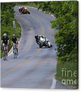 Motorcycles And Bicycles Canvas Print
