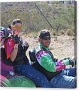 Motorcyclists Helldorado Days Parade Tombstone Arizona 2004 Canvas Print
