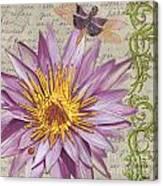 Moulin Floral 1 Canvas Print