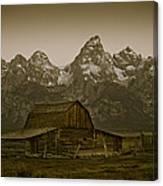 Moulton Barn And Tetons Canvas Print