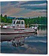Moultonborough Fire Boat Canvas Print