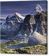 Mount Assiniboine In The Fall Canvas Print