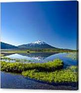 Mount Bachelor And Sparks Lake Canvas Print