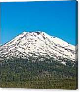 Mount Bachelor Closeup Canvas Print