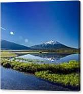Mount Bachelor Lens Flare Canvas Print