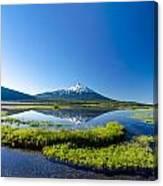 Mount Bachelor Vertical Reflection Canvas Print