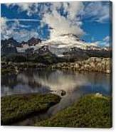 Mount Baker Skies Reflection Canvas Print