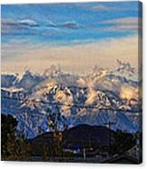 Mount Baldy On A New Years Eve Canvas Print