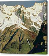 Mount Blanc Mountains Canvas Print