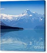 Mount Cook Reflecting In Lake Pukaki Canvas Print