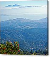 Mount Diablo From Mount Tamalpias-california Canvas Print