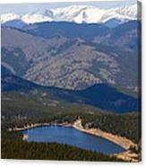 Mount Evans And Echo Lake Canvas Print