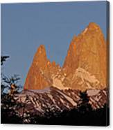 Mount Fitz Roy At Sunrise Canvas Print