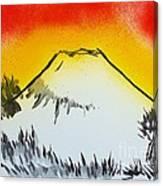 Mount Fuji At Daybreak Canvas Print