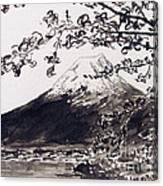 Mount Fuji Spring Blossoms Canvas Print