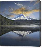 Mount Hood At Trillium One Early Morning Canvas Print