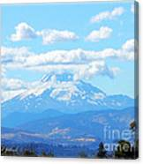 Mount Hood In The Clouds Canvas Print