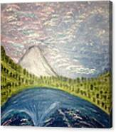 Mount Hood Night Sky Canvas Print