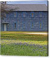 Mount Horeb Masonic Lodge 137 With Bluebonnets Canvas Print