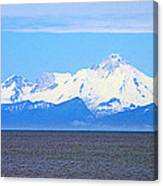 Mount Iliamna Across Cook Inlet From Ninilchik-alaska Canvas Print